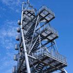 Platformen  mit der Verbindung der beiden Treppenanlagen