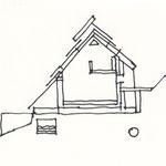 Grundprinzip der Gebäudestruktur an einem Hang