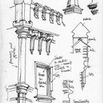 Skizzen für die Präsentation von Haus Leibnizsdtraße 13