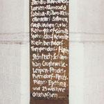 """Stele für die """"Verlorenen Orte"""", 1989 -  ausgestellt u.a. in Leipzig, Gotha, Cottbus und Dreden  (1991 bis 2010)"""