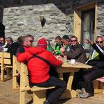 Mittagspause auf der Westgpfelhütte