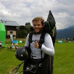 geschafft --Stephan Gruber im Ziel