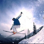 Fish Eye Ski Jump © Marmot Basin