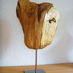 """""""Zeus"""", 2011, Holzfund, Schlagmetall Gold, Klebstoff, Schlüssel, ca. 40 cm"""