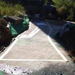 Dehnfugenreparatur/Dachabdichtung - vorher