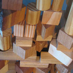 Hans Jannsen - Bauklötze, verschiedene Holzarten