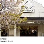 明治22年に開設した駅で、横須賀造船所の発展と共に歩んできました。現在の駅舎は昭和15年に建て替えられたもので、階段のない平坦な駅舎としても有名です。