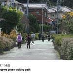 お年寄りが安心して歩け、子供たちが路地裏で遊べる生活と密着した道です。静かで、ふと緑に目が留まる何とも言えない趣きがあります。