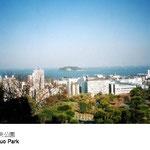 ここからは横須賀らしい景観が東西南北360度見渡せます。平成16年には中央公園眺望点が指定され、猿島を望む眺めの保全が図られています。