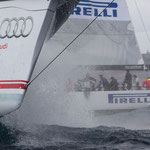 Wild Oats X and Celestial, Audi Sydney Harbour Regatta Photo: Lulu Roseman