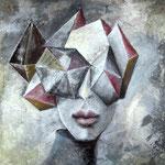 KOSMOS ERWEITERBAR 100 x 80 cm    Farbpigmente, Acryl auf Leinwand