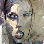 WORTBRUCH 100 x 80  Beton,  Farbpigmente, Acryl auf Leinwand
