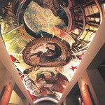 "The Mural: ""THE PROMISE""  -  70 foot vaulted ceiling mural. Location: The State Archives, State Capitol, Sacramento, California USA"