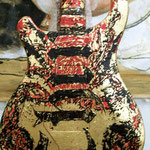 "'Yepes Signature' PRS Custom ""Chingon Scorpion"" Guitar (in progress) at Studio .357 Blue Star, Big Tex Grain Mills, San Antonio, Texas  USA (Robert Rodriguez Collection)."