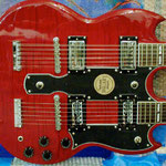 'Yepes Signature' Gibson Custom Double-Neck Guitar at Studio .357 Blue Star, Big Tex Grain Mills, San Antonio, Texas  USA