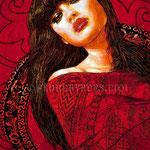 "Concept Portrait of ""Red Sonia"" • The Izel Interior Mural/Paintings • Conrad Hilton Hotel, Dubai  UAE"