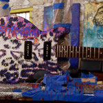 "'Yepes Signature' Gibson Custom ""J.D. Natasha"" Guitar (in progress) at Studio .357 Blue Star, Big Tex Grain Mills, San Antonio, Texas  USA"