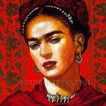 "Concept Portrait of ""Frida Kahlo"" • The Izel Interior Mural/Paintings • Conrad Hilton Hotel, Dubai  UAE"