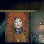 "(Interior Design Concept) Portrait of ""Little Red"" Lisa Martinez • The Izel Interior Mural/Paintings • Conrad Hilton Hotel, Dubai  UAE"