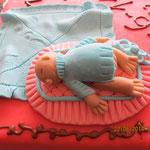Tauftorte Laura mit Fondant-Baby 3