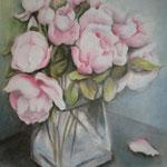 """ART HFrei - """"Mary's letzte Rosen"""" - Ölpastell - 2007"""