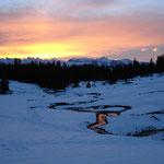 Morgenstimmung vor der Alphüttentür!
