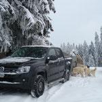 Jetzt muss der Amarok zeigen, ob er Schnee und Kälte  gewachsen ist! ;-)
