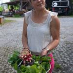 Salat und Radisli aus dem Garten!