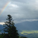 Regen und Sonne = Regenbogen.