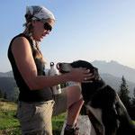 Gipfel erreicht - Finn und ich auf dem Jänzi