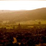 Abbaye de Cluny, vue extérieure au petit matin du concert