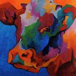 3/4 Vache bleue 80X80