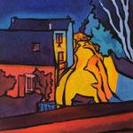 Vue de l'atelier rue de la Messe I 30X40