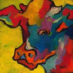 Vache N°12-1 20X20