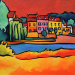 Le port de Thomery 30X40