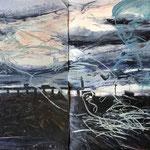 Bay Bridge Dream, 1988. 100 x 76 in. Oil paint on rag paper. #88PA044L