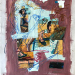 Vera Breakup, 1988. 38 x 50 in. Oil paint on rag paper. #88PA056AB