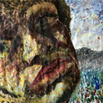 Self Portrait, 1988. 47 x 36 in. Oil paint on rag paper. #88PA072P