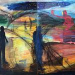 Lost Boy, 1988. 76 x 100 in. Oil paint on rag paper. #88PA057L