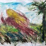 Field Angel, 1995. 50 x 38 in. Oil paint on rag paper. #95PA040AB