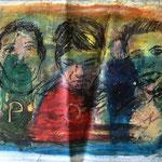 Oil paint on rag paper.
