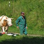 Ein Kuh war auch mit dabei!