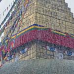 Il monsone al Boudhanath Stupa, Kathmandu - Nepal