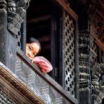 Bambina alla finestra Durbar Square, Bhaktapur - Nepal