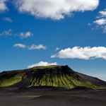 Panoramic view of Kerlingahnúkar and Einhyrningar, Iceland