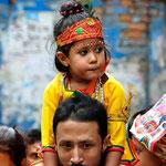 Bambina nei pressi dell'Annapurna Temple, Kathmandu - Nepal
