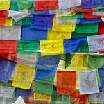 Bandiere di preghiere al Boudhanath stupa, Kathmandu - nepal