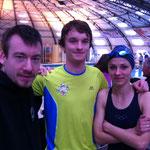 L'équipe du GK : Romain, Maxime et Victoria.