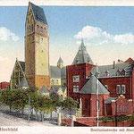 Neue Bonifatius-Kirche mit Marien-Hospital 1918