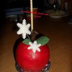 Trüffel Apfel am Stiel für meine Arbeitskolleginen Dezember 2009